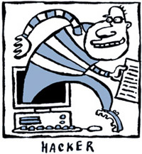 hacker logo cartoon